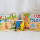 Деревянная игрушка Домино Животные домашние и африки