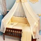 Постельный набор в кроватку вышивка пчелка сатин. Бесплатная доставка
