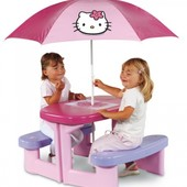 Продам стол для пикника с зонтом Winnie the Pooh, 2+ Smoby