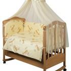 """Комплект постельного """"Веселый жираф"""", защита на молнии."""