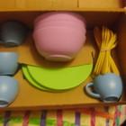 Набор посуды на 24пердмета для ребенка из органического пластика.США!Оригинал!