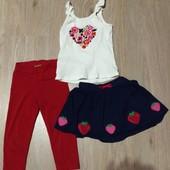 Пакет летних вещей на девочку 2-3года+подарки!