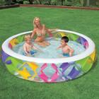 Бассейн Intex с цветными вставками с надувным дном 229х56см,от 6 лет