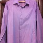 Рубашка мужская фиолетовая стильная Time of style. Турция