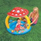 Детский бассейн грибок с надувным дном интекс Intex 102х89см
