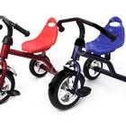 Велосипед трехколесный QAT-T001 со стальной рамой красный и синий