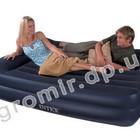 Надувная кровать матрас велюр Intex 66720 (157х203х47 см)