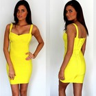 HERVE LEGER желтое  бандажное платье 055♥ ГАРАНТИЯ КАЧЕСТВА♥