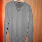 Свитер джемпер серый мужской в хорошем состоянии, Sisley,оригинал