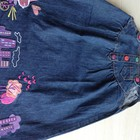 Джиновый сарафан с вышивкой для девочки новый 92 рост