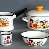 Детские наборы эмалированной посуды
