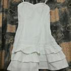 Модное джинсовое платье на бретелях, белое, b.p.c. fashion