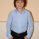 Синяя голубая классическая рубашка на мальчика на 5 лет,Турция