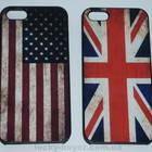 Чехлы iPhone 5/5S с флагом Британии США, чехол айфон с американским и британским флагом