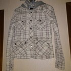 Курточка в клетку с капюшоном, весенне-осенняя, Fish3one
