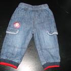 утепленные Х/Б подкладкой джинсы George 6-9 мес (до 12 отлично) состояние отличное