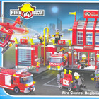 Конструктор 911 Пожарные спасатели, охрана, Пожарка Brick, Брик