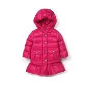 Зимнее пальто пуховик на девочку - натуральный пух.