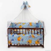 Комплект постельного белья с карманом в детские кроватки