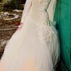 Свадебное платье (не венчанное), цвет молочный