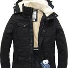 Мужская зимняя куртка-парка черная