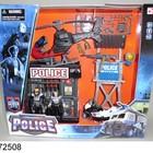 Набор Полиция 2 (вертолет, мотоцикл, полицейская клетка и вышка)