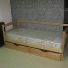 Детская кровать Малыш, 2 бортика, 2 ящика.