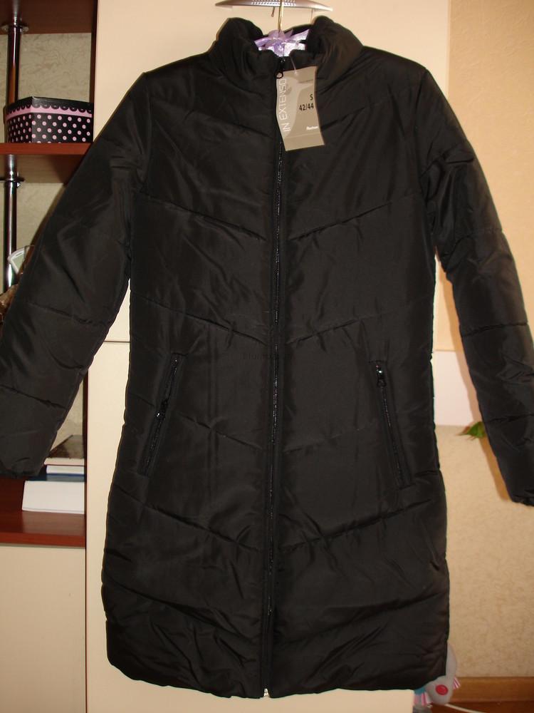Пальто новое черное демисезонное  размер хs (40-42) фото №1