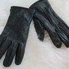 Перчатки теплые. Кожа.