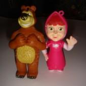 поштучно фигурки Маша и медведь заяц олени бурундучок-скунс
