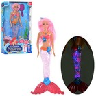 Кукла  Барби Русалочка Волшебные огоньки (меняет цвет волос,светящийся хвост)