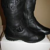 Нові супер чоботи зимові шкіряні Janet D., Германия Оригінал р.38