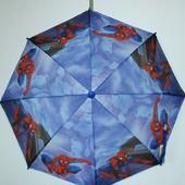Зонтик детский для мальчика Спайдермен,Тачки
