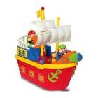 Игровой набор Kiddieland Пиратский корабль на колесах, свет, звук