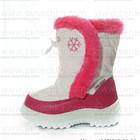 Дутики. Сноубутсы белые с малиновым. Обувь детская зимняя. Дешево.
