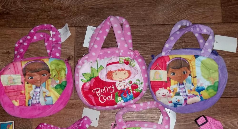 Детская плюшевая сумочка Мульти 18 на 14 см фото №1