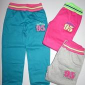 Спортивные штаны для девочек с начосом 116-146р.6105