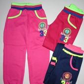 Спортивные штаны для девочек с начосом 116-146р.6106