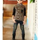 В наличии Теплые леопардовые кофты гольфы свитера на меховушке