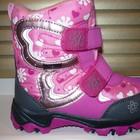 Детские термо ботинки тм B&G для девочки розовые