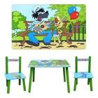 Детский столик с двумя стульчиками «Ну, погоди!»