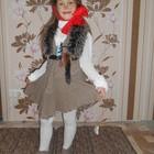 Шикарный костюм Лисы Алисы, Буратино, Лиса Алиса  с натуральным хвостомпрокат Киев