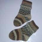 Детские носки вязанные, 17 размер (10 см стопа)