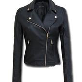Демисезонная женская куртка косуха из эко-кожи
