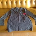 Блузка + юбка с запахом из плащевой ткани, р.36