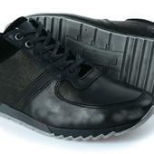 мужские спортивные туфли кроссовки кожа