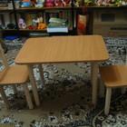 Детский столик с двумя стульчиками, цвета бук