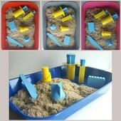 Готовые наборы c 1 кг Кинетический песок Kinetic sand