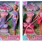 Распродажа -  Кукла Штеффи с малышом в коляске