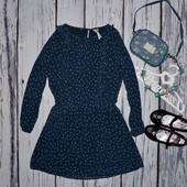 Очень нарядное романтичное платье туника моднице Next Некст в звездочки 8 лет 128 см